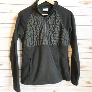 Columbia Black Fleece & Puffer Pop Over Jacket M